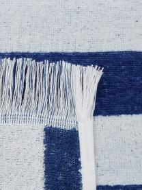 Telo mare a righe Mare, Cotone Qualità leggera 380 g/m², Blu, bianco, Larg. 80 x Lung. 160 cm