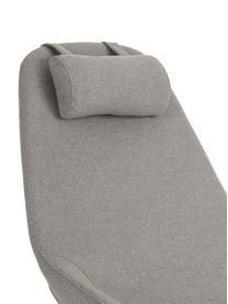 Schommelstoel Jolene in grijs, Frame: gepoedercoat staal, Poten: essenhout, Bekleding: polyester, Geweven stof grijs, 66 x 102 cm