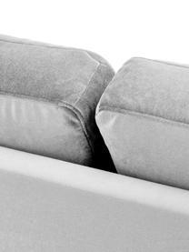 Chaise-longue in velluto grigio con schienale Alva, Rivestimento: velluto (copertura in pol, Struttura: legno di pino massiccio, Piedini: legno massello di faggio,, Velluto grigio, Larg. 193 x Prof. 94 cm