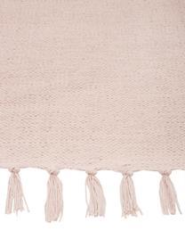 Dun  katoenen vloerkleed Agneta in roze, handgeweven, 100% katoen, Roze, B 200 x L 300 cm (maat L)