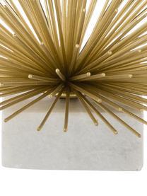 Oggetto decorativo Marburch, Ornamento: metallo, Ornamento: dorato, Base: marmo chiaro, Ø 16 x Alt. 11 cm