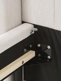 Gestoffeerd bed Dusk in lichtbeige, Frame: massief grenenhout en pla, Bekleding: fijn gestructureerde gewe, Poten: gepoedercoat metaal, Geweven stof lichtbeige, 200 x 200 cm