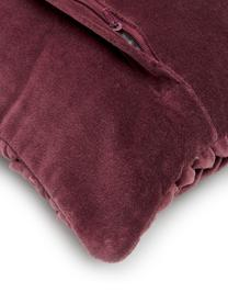 Cuscino in velluto con imbottitura Smock, Rivestimento: 100% velluto di cotone, Rosso, Larg. 30 x Lung. 50 cm