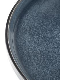 Piatto piano artigianale Quintana 2 pz, Porcellana, Blu, marrone, Ø 28 cm