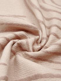 Plaid réversible en coton Deco, Brun clair, brun