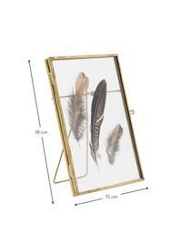 Bilderrahmen Pioro, Rahmen: Metall, beschichtet, Front: Glas, Messingfarben, Transparent, 13 x 18 cm