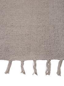 Tappeto in cotone Agneta, 100% cotone, Grigio, Larg. 50 x Lung. 80 cm