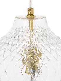 Lampada a sospensione in vetro Lee, Paralume: vetro, Trasparente, ottone, Ø 27 x Alt. 33 cm