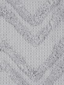 Boho Kissenhülle Akesha mit getuftetem Zickzack-Muster, 100% Baumwolle, Grau, 45 x 45 cm