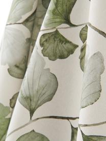 Theedoeken Gigi met bladmotief, 2 stuks, 100% katoen, Beige, groen, 50 x 70 cm