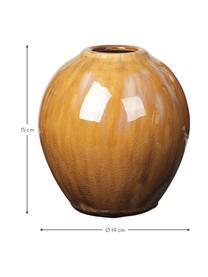Set 3 vasi in ceramica Ingrid, Ceramica, Tonalità marrone, Ø 14 x Alt. 15 cm