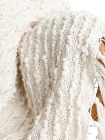 Plaid Luxor, 100% Akryl, Gebrochenes Weiß, 130 x 170 cm