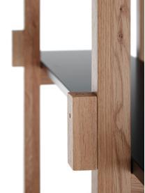 Standregal Store aus Eichenholz, Korpus: Eichenholz massiv, Eiche, Schwarz, 110 x 200 cm
