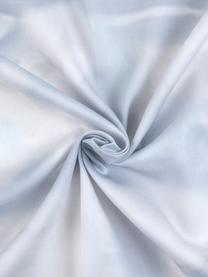 Baumwollsatin-Bettwäsche Cloudy mit Wolkenprint, Webart: Satin Fadendichte 210 TC,, Hellblau, Weiß, 240 x 220 cm + 2 Kissen 80 x 80 cm