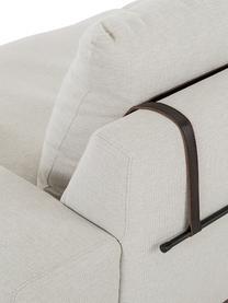 Sofa Brooks (3-Sitzer) in Beige mit Metall-Füßen, Bezug: Polyester 35.000 Scheuert, Gestell: Kiefernholz, massiv, Rahmen: Kiefernholz, lackiert, Füße: Metall, pulverbeschichtet, Webstoff Beige, 230 x 75 cm