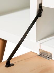 Skandi Lowboard Pedro mit Türen, Korpus: Mitteldichte Holzfaserpla, Weiß, Kiefernholz, 120 x 48 cm