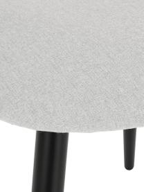 Gestoffeerde stoel Rachel in grijs, Bekleding: 100% polyester, Poten: gepoedercoat metaal, Fluweel zwart, B 53  x D 57 cm