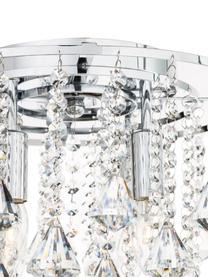 Kristall-Deckenleuchte Dorchester, Baldachin: Metall, verchromt, Dekor: Glas, Transparent, Chrom, Ø 40 x H 36 cm