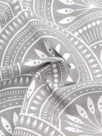 Dubbelzijdige kussenhoes met patroon Tiara in lichtgrijs van biokatoen, 100% biokatoen, GOTS-gecertificeerd, Lichtgrijs, wit, 45 x 45 cm