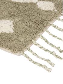Badvorleger Fauve mit Bohomuster und Quasten in Beige/Weiß, 100% Baumwolle, Beige, Weiß, 50 x 70 cm