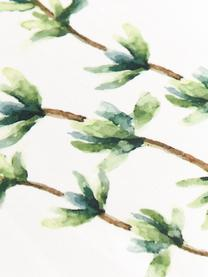 Set 5 stofinacci con motivo erbe Aroma, Cotone, Bianco latteo, tonalità verdi, Lung. 70 x Larg. 50 cm