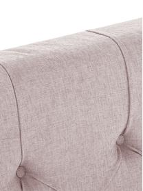 Łóżko kontynentalne premium Phoebe, Nogi: lite drewno bukowe, lakie, Brudny różowy, 160 x 200 cm