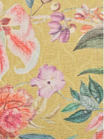 Baumwoll-Kissenhülle Annie mit buntem Jacquard-Muster, Vorderseite: 100% Baumwolle, Webart: Jacquard, Rückseite: 100% Polyester, Senfgelb, Mehrfarbig, 40 x 40 cm