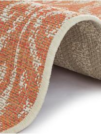 Tappeto vintage da interno-esterno Hatta, Polipropilene, Rosso arancia, beige, Larg. 200 x Lung. 290 cm (taglia L)