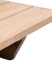 Tavolino da giardino in legno di teak Newport, Teak riciclato, Legno di teak, Larg. 140 x Prof. 16 cm