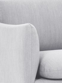 Divano 3 posti in tessuto grigio chiaro Moby, Rivestimento: poliestere 60.000 cicli d, Struttura: legno di pino massiccio, Piedini: metallo verniciato, Tessuto grigio chiaro, Larg. 220 x Prof. 95 cm