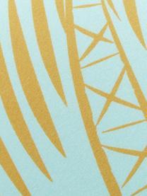 Leichtes Strandtuch Palmtree mit Palmen-Motiv, 55% Polyester, 45% Baumwolle Sehr leichte Qualität, 340 g/m², Türkis, Gelb, 70 x 150 cm