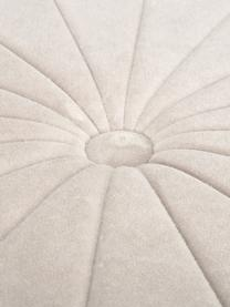 Puf z aksamitu Birdie, Tapicerka: aksamit bawełniany, Szampański, Ø 51 x W 38 cm