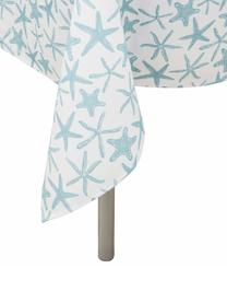 Wasserabweisende Tischdecke Starbone, Polyester, Weiß, Blau, Für 6 - 8 Personen (B 140 x L 240 cm)