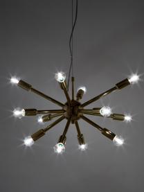 Lampada a sospensione dorata Spike, Paralume: metallo ottonato, Baldacchino: metallo ottonato, Dorato, Ø 50 cm