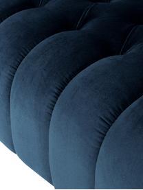 Canapé Chesterfield 3places velours Gladis, Velours bleu foncé