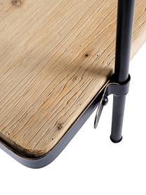 Regał z drewna i metalu Jerrod, Stelaż: metal epoksydowany, malow, Czarny, brązowy, S 122 x W 180 cm