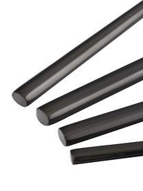 Cubertería de acero inoxidable Matera, 4comensales (16pzas.), Acero inoxidable anodizado 13/0 brillante, Negro, Set de diferentes tamaños