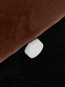 Samt-Polsterbank Alto, Bezug: Samt (Polyester) 30.000 S, Gestell: Massives Kiefernholz, Spe, Samt Braun, 110 x 47 cm