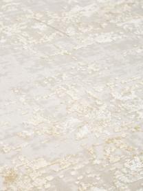 Schimmernder Läufer Cordoba in Beigetönen mit Fransen, Vintage Style, Flor: 70% Acryl, 30% Viskose, Beigetöne, 80 x 300 cm