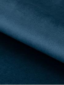 Samt-Sitzbank Glory, Bezug: Polyestersamt 25.000 Sche, Gestell: Metall, pulverbeschichtet, Blau, Schwarz, 95 x 45 cm