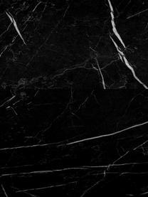 Zwevende salontafel Lesley met marmerlook, MDF bekleed met melaminefolie, Zwart, gemarmerd, glanzend, 120 x 35 cm