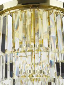 Kristalglazen plafondlamp Gracja in goudkleur, Lampenkap: glas, Goudkleurig, transparant, Ø 40 x H 40 cm