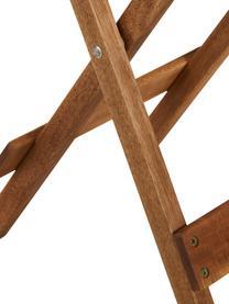 Beistelltisch Lodge aus Holz, klappbar, Akazienholz, geölt, Akazienholz, 38 x 51 cm