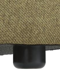 Canapé 4places modulable dossier bas Lennon, Tissu vert