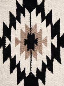 Federa arredo etnica Toluca, 100% cotone, Nero, beige, taupe, Larg. 45 x Lung. 45 cm