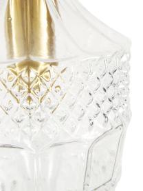 Kleine Pendelleuchte Brussels aus Glas, Lampenschirm: Glas, Dekor: Metall, beschichtet, Baldachin: Metall, beschichtet, Transparent, Goldfarben, Ø 13 x H 30 cm