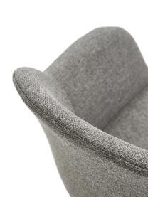 Armstoel Fiji met metalen poten, Bekleding: polyester, Poten: gepoedercoat metaal, Zitvlak: donkergrijs. Poten: mat zwart, B 58 x D 56 cm