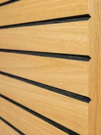 Rangement en bois de chêne Stripe, Bois de chêne, noir