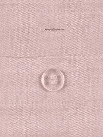 Poszewka na poduszkę z lnu z efektem sprania Nature, 2 szt., Blady różowy, S 40 x D 80 cm