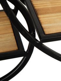 Étagère murale ronde en bois et métal Circles, Noir, brun